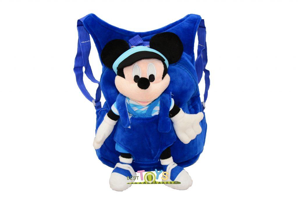 pantofi autentici concept nou pret cu ridicata Ghiozdan din plus cu mascota detasabila Mickey Mouse - Best Toys
