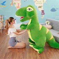 jucarie din plus dinozaur verde